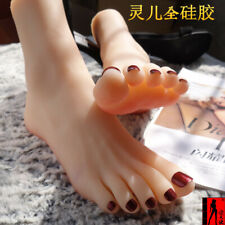 Us Size 6 Lifesize Female Feet Model Mannequin Silicone Foot Photography Props