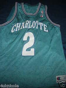 5cf232dba Image is loading LARRY-JOHNSON-CHARLOTTE-HORNETS-CHAMPION-Basketball-Jersey -Vintage-