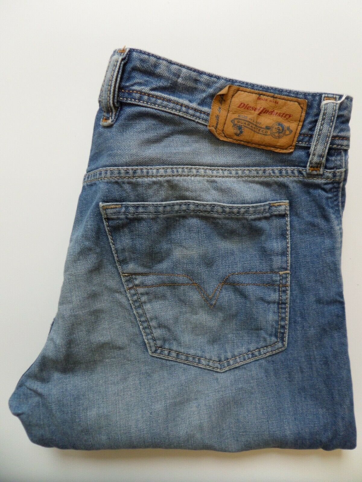 DIESEL DIESEL DIESEL Jeans Waykee Regolare Dritto Fit W34 L30 Blu Slavato 0839C Mid levp 395 4980f3