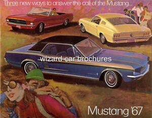 1967-FORD-MUSTANG-ONLY-CAR-SALES-BROCHURE-MINT