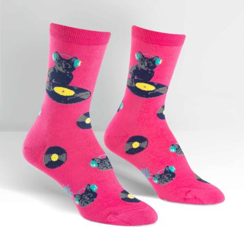Sock It To Me Donna Crew Socks-graffio di gatto