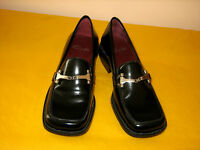 Clarks Caruso Black Leather Shoes Uk 5d Unused With Light Scratches From Storing