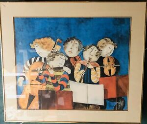 Graciela-Rodo-Boulanger-034-THE-PRELUDE-034-Lithograph-25x30-Signed-Framed-VERY-Heavy