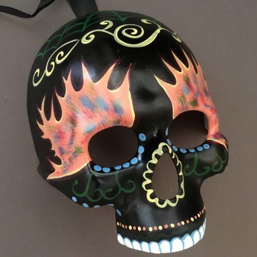 Halloween Clown Skull Half Face  Day Of Dead Costume Masquerade Mask