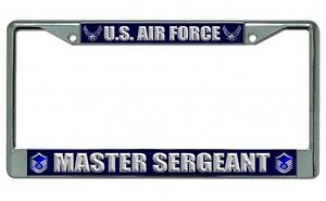 U S Air Force Master Sergeant Photo License Plate Frame
