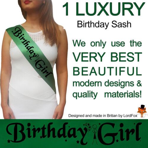 Birthday sash party sashes 16th 18th 21st 30th 40th 50th