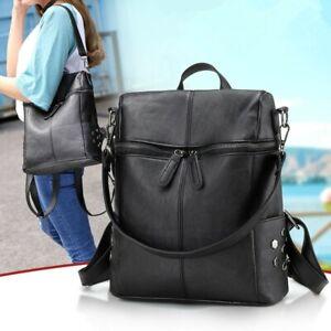 634bf42ce138 Details about Women's Backpack PU Leather Rucksack Girls Female Travel  School Bag Shoulder Bag