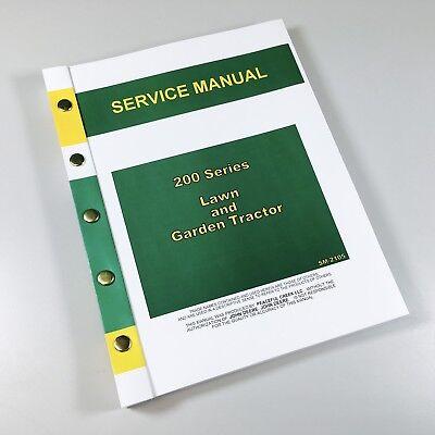 SERVICE MANUAL FOR JOHN DEERE 200 208 210 212 214 216 LAWN GARDEN TRACTOR MOWER EBay