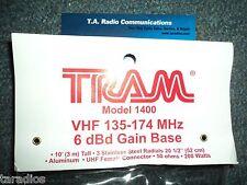 Tram 1400 Vhf 2 Meter Base Station Antenna Radios Ham Murs Marine 136 174 Mhz