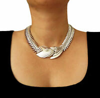 Long 925 Sterling Silver Taxco Flexible Fish Necklace