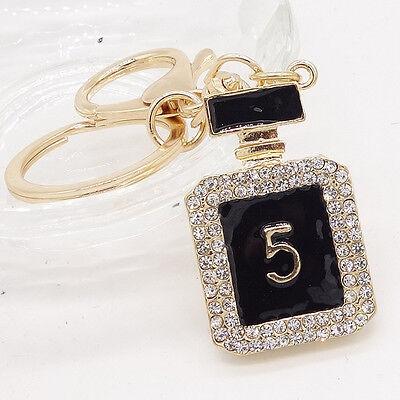 Key Ring Purse Bag Perfume Bottle Rhinestone Keyring Keychain charm Pendant #2