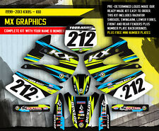 2001-2013 KX 85 100 GRAPHICS KIT KAWASAKI KX85 KX100 MOTOCROSS BIKE DECALS