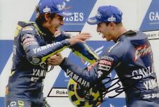 Colin Edwards mano firmado Gauloises Yamaha 6x4 Foto.
