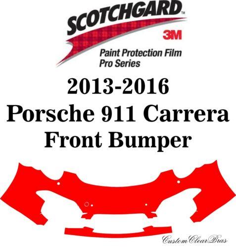 3M Scotchgard Paint Protection Film Pro 2013 2014 2015 2016 Porsche 911 Carrera