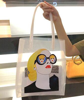 Women Transparent Shoulder Bag Clear Handbag Tote Shopper Bag Jelly Beach Purse