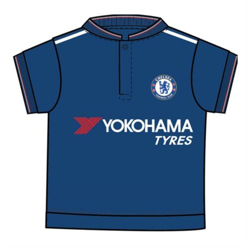 9//12 Months Babies Short Sleeved Chelsea Fc Baby Football Kit Shirt Strip