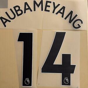 FLOCAGE Aubameyang #14 Arsenal Away 2019 2021 Exterieur Nameset.