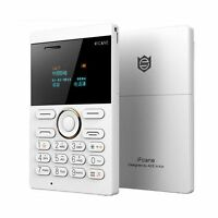 Mini Mobile Card Size Smallest Cell Phone Gsm Unlocked Bluetooth Mp3 White