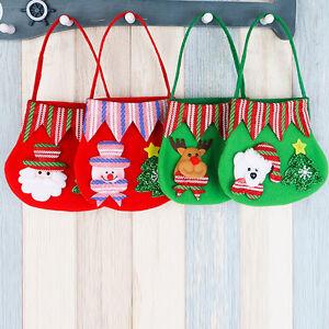 Cute-New-Sweet-Xmas-Holiday-Handbag-Santa-Snowman-Deer-Bear-Christmas-Gift-Bags