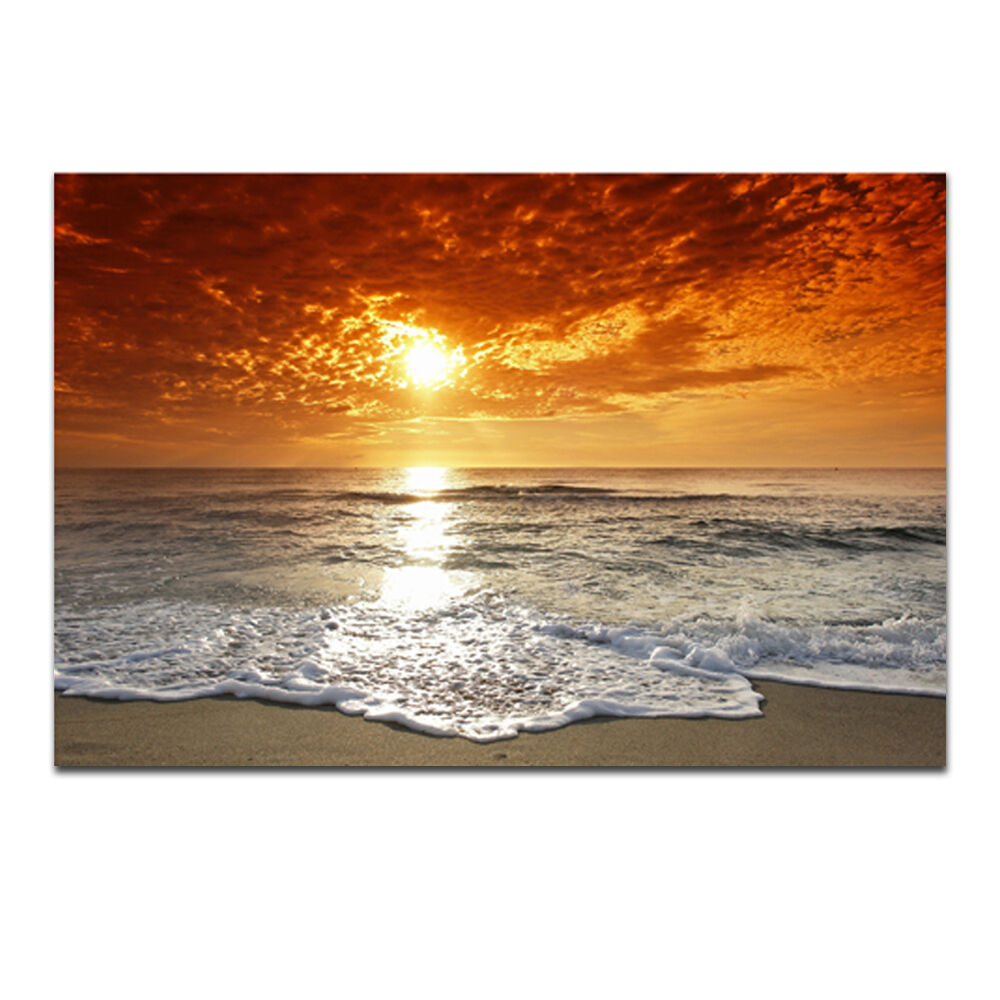 Canvas Print Painting Picture Home Decor Wall Art Sea Beach Landscape Framed 2