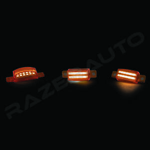 Amber-3x-LED-Light-for-Aftermarket-Raptor-Style-Grille-15-17-Ford-F150