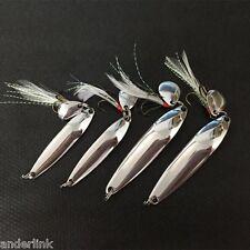 4pcs Fishing Lure Hard Baits Sequins Spoon Noise Paillette Treble Hook Z2T6