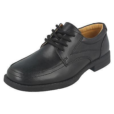 Jungen cool 4 School schwarzer Schnürschuh - N1117