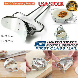 Details about Set of Dumpling Mould Stainless Gyoza Dough Maker Kitchen  Turnover Press DIY