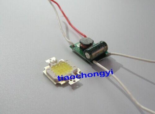 High Power LED Chip Driver 9-12V 900mA /& 10W Cool White 10000-15000k Light Bulb