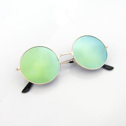 Unisex Männer Frauen Runde Stil Hippie 50er 60er Sonnenbrillen Retro Vintage