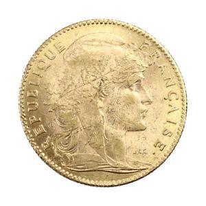 Piece-Or-France-10-francs-Marianne-Coq-Annee-1914-Gold-Coin-France-Mint-Paris