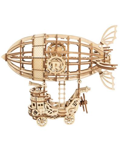 Modell Puzzle 3D Skibob steampunk aus Holz Aufbauleuchte