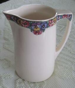 Vintage-Villeroy-and-Boch-Mettlach-Bosna-11-034-Pitcher-with-Floral-Border