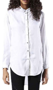 Diesel C-ARYA Women's Shirt Long Sleeve Button Down Plaid Trim Size S (G93)