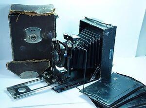 Fotokor-1 Vintage Soviet Folding Plate Camera ens GOMZ Ortagoz 4.5/135 #650766