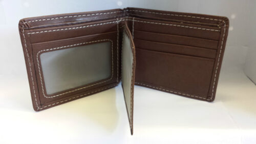 NEW MENS LUXURY SOFT QUALITY LEATHER WALLET CREDIT CARD HOLDER PURSE