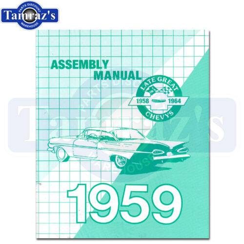 1959 Impala Biscayne Bel Air  Factory Assembly Manual Bound New