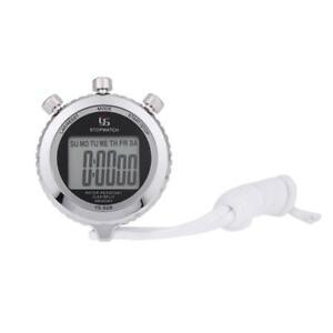 Hohe-Qualitaet-Chronograph-Metall-Digital-Timer-Stoppuhr-Sport-digitale-Zaehl-tt