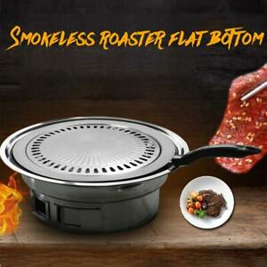 Iron-Indoor-Outdoor-Smokeless-BBQ-Barbecue-Grill-Non-Stick-Gas-Stove-Pan-Plate