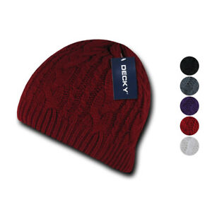 b93b2a0f37556d Image is loading 1-Dozen-Decky-Beanies-Soft-Stretchy-Braided-Knit-