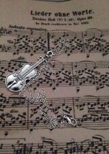 Violín Colgante Collar de encanto Sherlock inspirado música