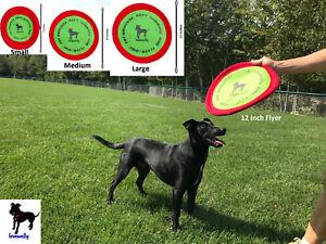 Soft-Bite-Dog-Toy-Flyer-Floppy-Disc-Gentle-Fetch-Frisbee-Disc-7-034-9-034-or-12-034