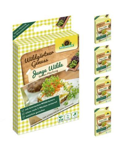 Neudorff WildgärtnerGenuss Junge Wilde 5 x Kräuter-Samen B-Ware