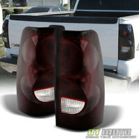 Red Smoked 2003-2006 Chevy Silverado Replacement Aftermarket Tail Lights Lamps