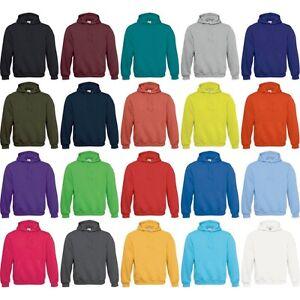 Mens B C Plain Cotton Rich Hooded Hoodie Sweatshirt   eBay 3cb5d2487d3