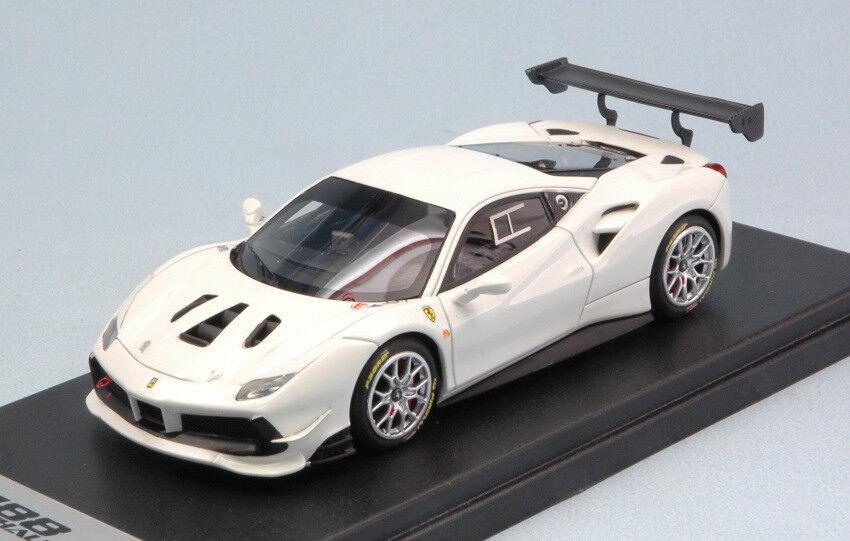 Quatre mers, Xiangyun, Fulai, cadeau cadeau cadeau du Nouvel An, non-stop Ferrari 488 Challenge Bianco Avus 100 1:43 Model LOOKSMART 3b5610