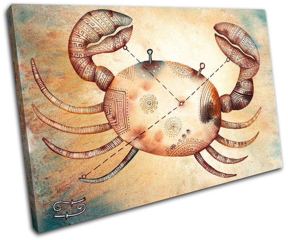 Cancer Starsign Zodiac Astrology Horoscope Canvas Print Art Picture Print Canvas Decorative e1e6d0