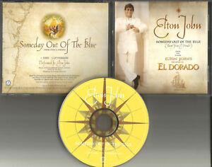 ELTON JOHN Someday out of the blue w RARE EDIT PROMO Radio DJ CD Single 2000 USA