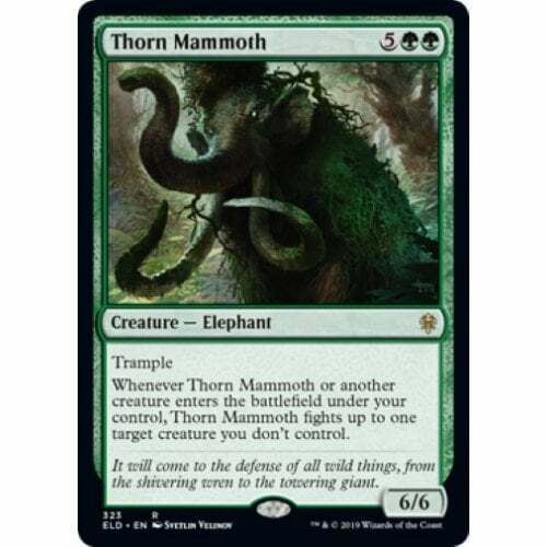 Magic * Throne of Eldraine Thorn Mammoth Brawl Deck The Gathering