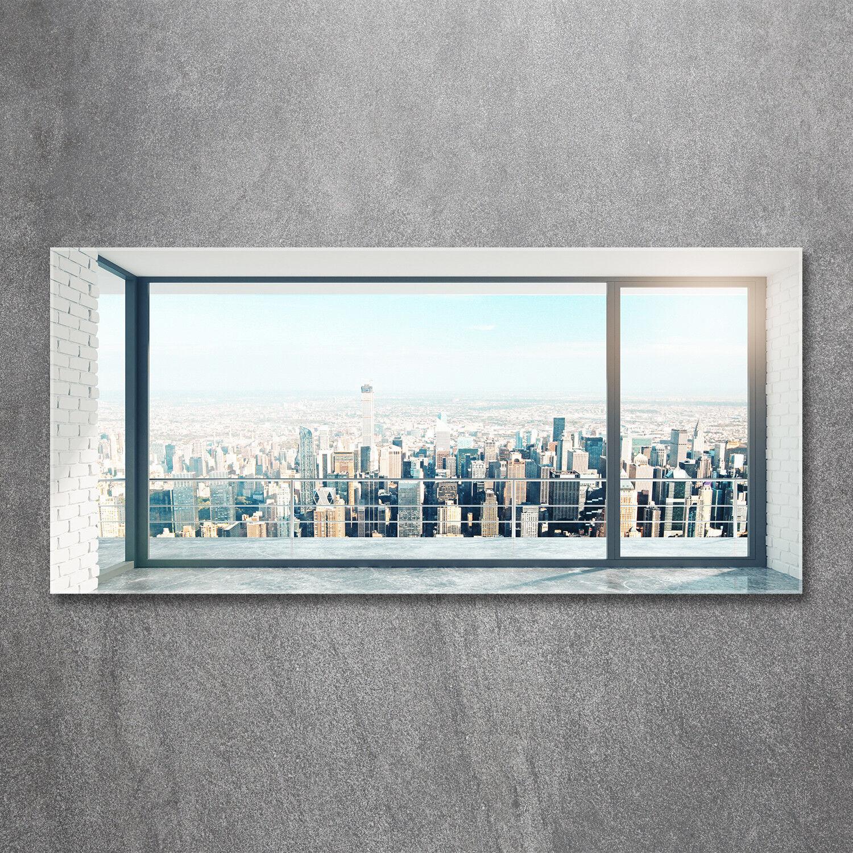 Glas-Bild Wandbilder Druck auf Glas 120x60 Deko Landschaften Blick auf die Stadt